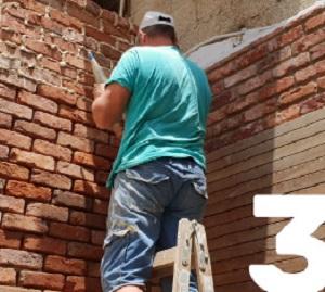 לאחר בניית הבריקים תהליך יישום הרובע